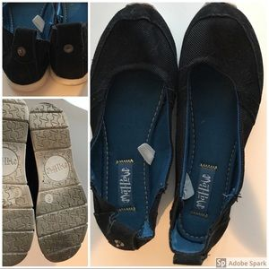 Mad Love Black Canvas Slip On Shoes Size 6